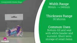 Watch a short video on Compostable Display Bags with Header