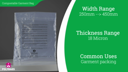 Watch a short video on compostable garment bags with multi-language warning