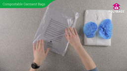 How to use compostable garment bags with multi-language warning