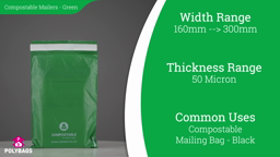 Watch a short video on Compostable Green Mailing Bags