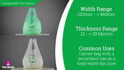 Watch a short video on Compostable Vest Carriers
