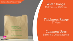 Watch a short video on compostable window bags