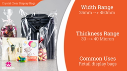 Watch a short video about our Clear Retail Display Bags