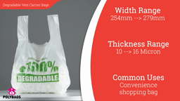 Watch a short video about our Degradable Vest Carrier Bags
