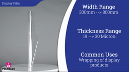 Watch a short video about our High Gloss Display Film Rolls