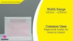 Watch a short video about our Document Enclosed Envelopes