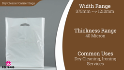 Watch a short video about our Dry Cleaner Carrier Bags