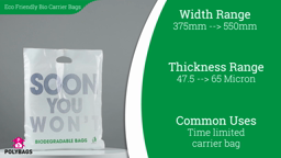 Watch a short video about our Standard Biodegradable Carrier Bags