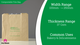 Watch a short video on eco-friendly compostable film front bags
