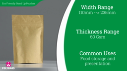Watch a short video about our Biodegradable Stand-Up Pouches