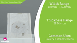 Watch a short video about our Window Bags With White Backing