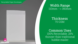 Watch a short video on Fluted Recyclable Paper Envelopes