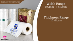 Watch a short video about our Garment Covers On The Roll