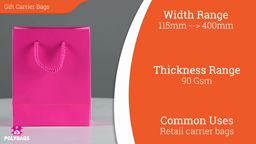 Watch a short video about our Gift Carrier Bags