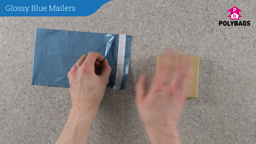 How to use Glossy Blue Mailers