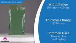 Watch a short video on Green Biodegradable 100% Recycled Mailing Bags