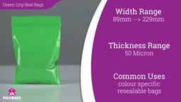 Watch a short video about our Green Grip Seal Bags