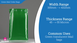 Watch a short video about our Eco Green Mailorder Bags