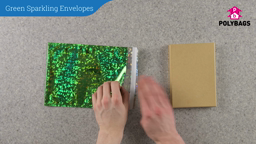 How to use Green Sparkling Envelopes