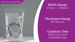 Watch a short video about our Heavy Duty Grip Seal Bags