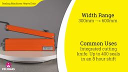 Watch a short video on Heavy Duty Heat Sealers - Tabletop