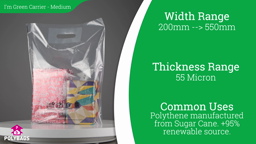 Watch a short video on I'm Green Carrier Bags