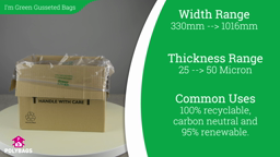 Watch a short video on I'm Green Gusseted Bags and Liners