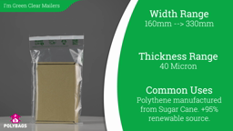 Watch a short video on I'm Green Mailing Bags