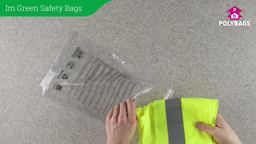 How to use I'm green safety bags with multi-language warning
