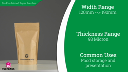 Watch a short video on Keep Calm Biodegradable Stand-Up Pouches