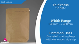 Watch a short video on Kraft Paper Gusseted Mailers