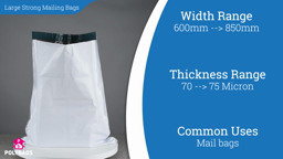 Watch a short video about our Large Heavy Duty Courier Sacks