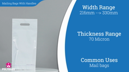 Watch a short video about our Mailing Bags With Handles