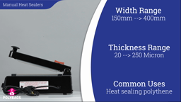 Watch a short video about our Manual Heat Sealers for heat-sealing polythene