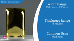 Watch a short video about our Metallic Gold Postal Envelopes