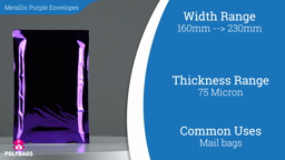 Watch a short video about our Metallic Purple Postal Envelopes