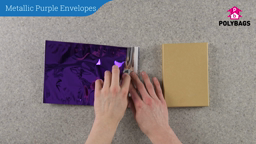 How to use Metallic Purple Envelopes