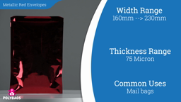 Watch a short video about our Metallic Red Postal Envelopes