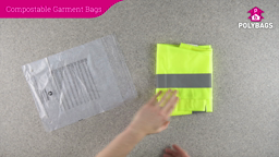 How to use multi-language compostable peel and seal garment bags