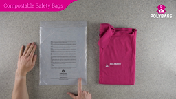 How to use multi-language compostable peel and seal safety bags