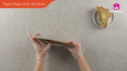 How to use paper bags with gusset and window