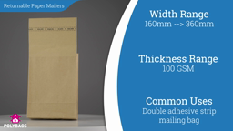 Watch a short video on Paper Mailers with Gusset - Double Strip