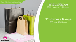 Watch a short video about our Paper Take Away & Carrier Bags