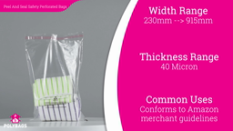 Watch a short video about our Peel and Seal Safety Perforated Bags