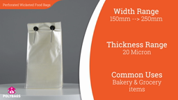 Watch a short video about our Perforated Wicketed Bags