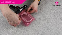 How to use pink antistatic bags and liners