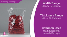 Watch a short video about our Plain Grip Seal Bags