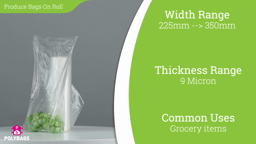 Watch a short video about our Produce Bags On A Roll
