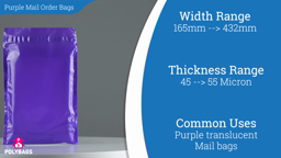 Watch a short video about our Vibrant Purple Mailorder Bags