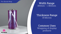 Watch a short video about our Pvc Clear Shrink Sheeting